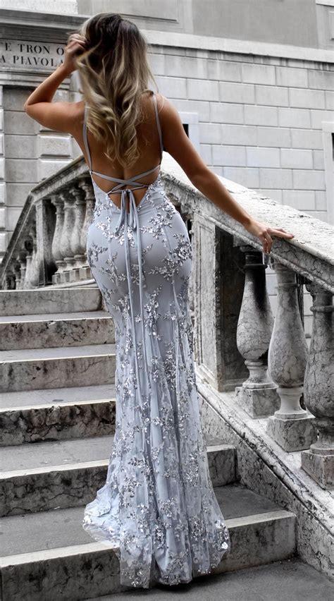 sexy silber abendkleider lang guenstig sequins spitze