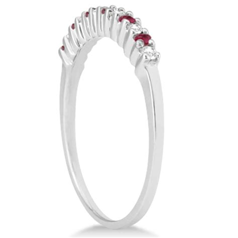 Ruby 6 35ct ruby bridal set platinum 0 35ct u631