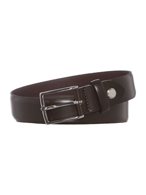 calvin klein slimcasual leather belt in brown for lyst