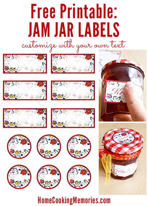 jam jar label template free printable jar labels for home canning jar labels