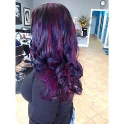 purple blue hair color purple and midnight blue curls hair colors ideas