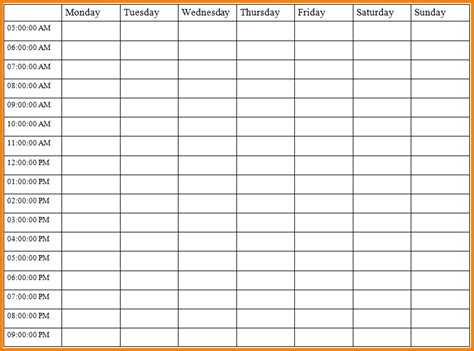 monthly time schedule template time schedule templates time management weekly blank jpg