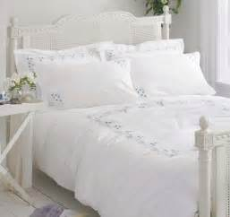 white cotton duvet cover white cotton bedding bed linen vintage embroidered