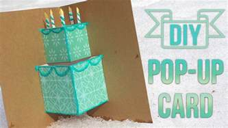 make a card template how to make a simple pop up birthday card