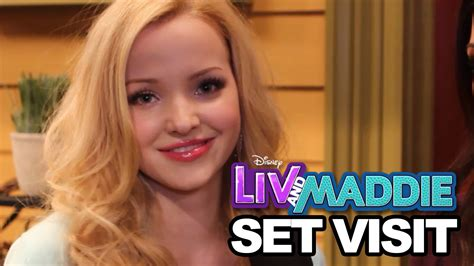 Liv In The by On Set Of Liv Maddie With Dove Cameron Joey Bragg