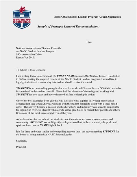 Letter Of Recommendation For Undergraduate Scholarship letter of recommendation template for studentmemo