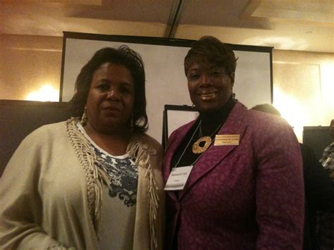 Delois Black pictured with m delois strum national president national coalition of 100 black at