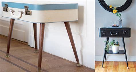 fabriquer sa table de nuit diy d 233 co fabriquer une table avec une valise de r 233 cup