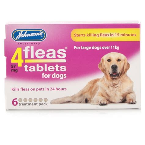 flea pill for dogs johnsons 4fleas tablets for large dogs ebay