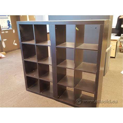 ikea kallax black 8 compartment bookcase shelf allsold