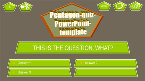 5 themes quiz powerpoint quiz template pentagon ppt themes