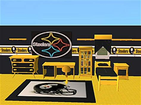 steelers bedroom set mod the sims packers and steelers nfl bedroom sets