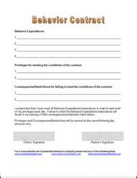 Parent Child Behavior Contract Template by Free Behavior Contracts Parenting Tools