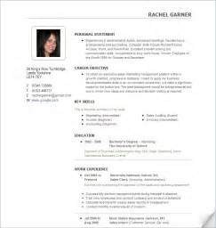 Resume Picture by Free Sample Cv Template Free Resume Templates