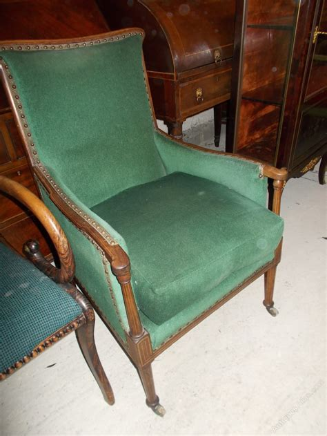edwardian armchair edwardian inlaid mahogany upholstered armchair antiques