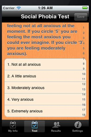 test fobia sociale social phobia test app for iphone health