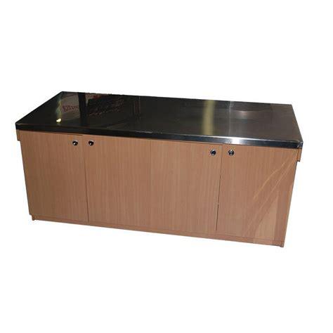 Comptoir Inox comptoir en bois avec dessus inox comptoir neutre cuisine