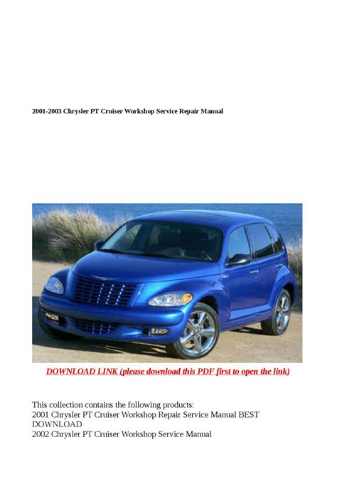 best car repair manuals 2003 chrysler pt cruiser electronic valve timing 2001 2003 chrysler pt cruiser workshop service repair manual by buhbu issuu