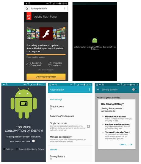 malware for android dangerous malware in the name of android adobe flash for smartphone