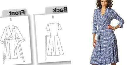 clothes pattern companies plus size wrap dress pattern pluslook eu collection