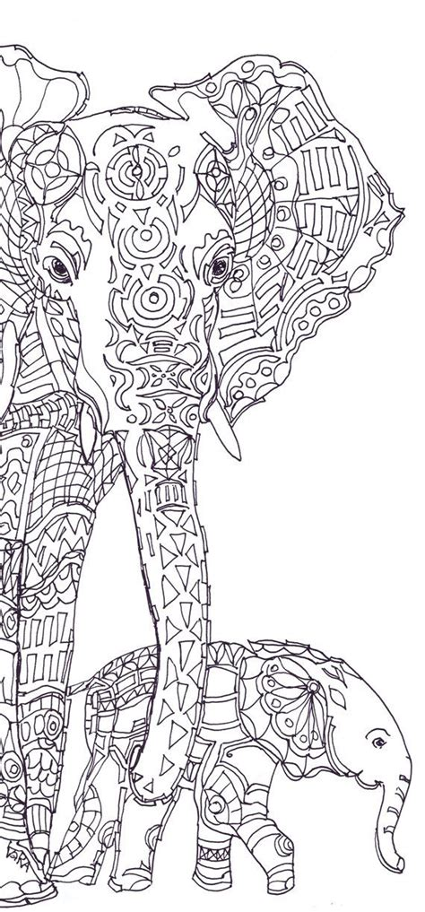 elephant mandala coloring pages for adults best 25 colouring pages ideas on