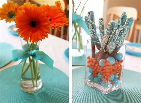 Orange Bridal Shower Decorations by What Do You Think Of Blue Mandarin Orange Colors