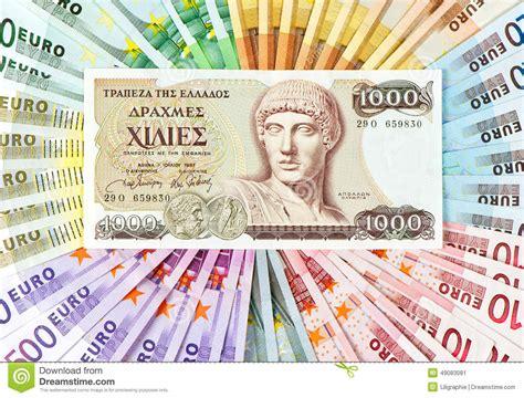 ritiro contanti in banca vecchia dracma greca ed note di contanti crisi
