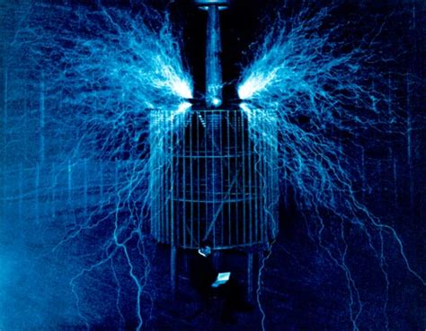 Tesla Lightning Above The Like Discharge Measures Sixty Five