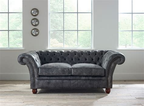 gray leather chesterfield sofa southerlyn charcoal genuine
