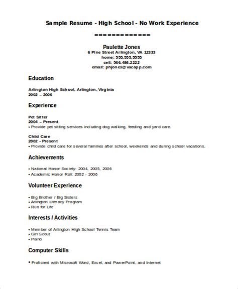 teenage resume template get free teenage resume template