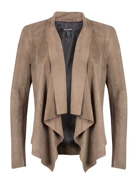 drape jacket chester beige suede drape front bomber jacket muubaa