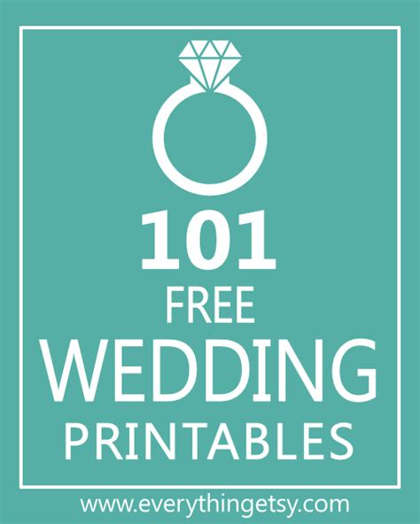 101 Wedding Printables Free