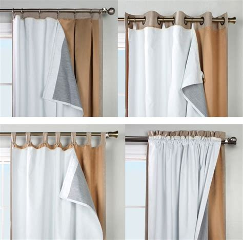 insulated drapery liners thermalogic ultimate blackout insulated curtain liner