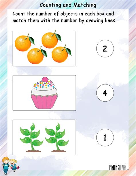 Matching For And - counting ukg math worksheets page 2
