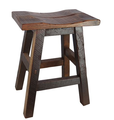 Rustic Backless Bar Stools by Barnwood Bar Stools 24 Inch Backless