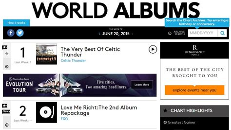 exo billboard exo spotted on billboard s world album chart with quot love me