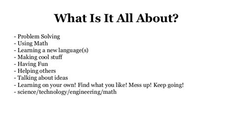 what does it all computer science class 1