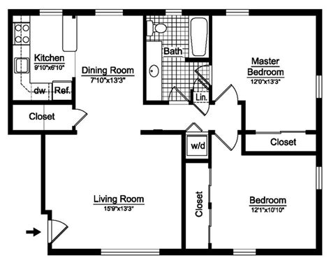 bedroom 1 bath and 2 bedroom 2 bath apartment floor plans