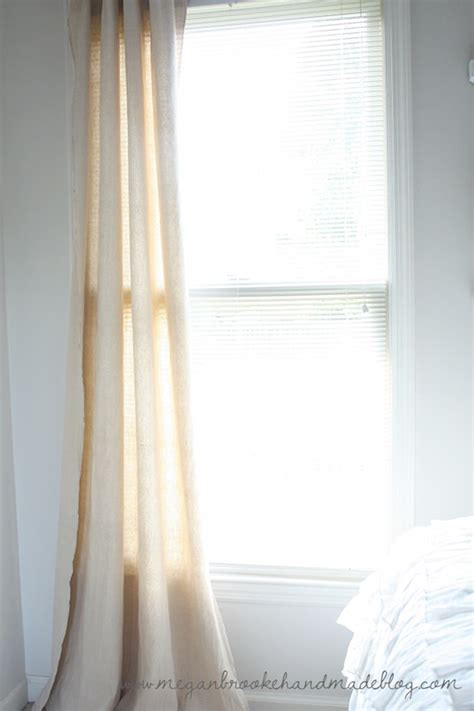 diy drop cloth curtains diy drop cloth projects the budget decorator