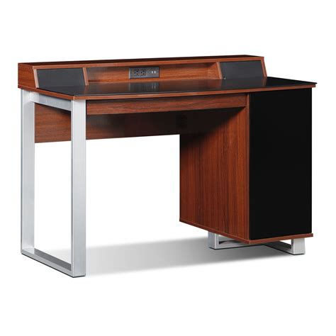Pacer Home Office Desk With Sound Cherry Value City Cherry Home Office Desk