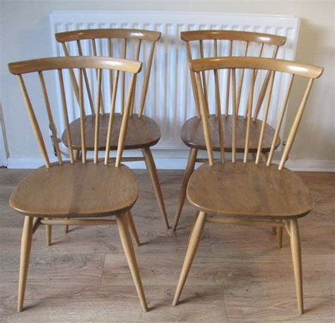 antiques atlas ercol retro dining chairs golden