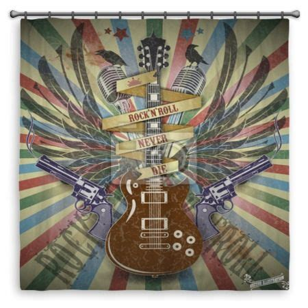 rock n roll curtains pin by visionbedding com on vision music decor pinterest