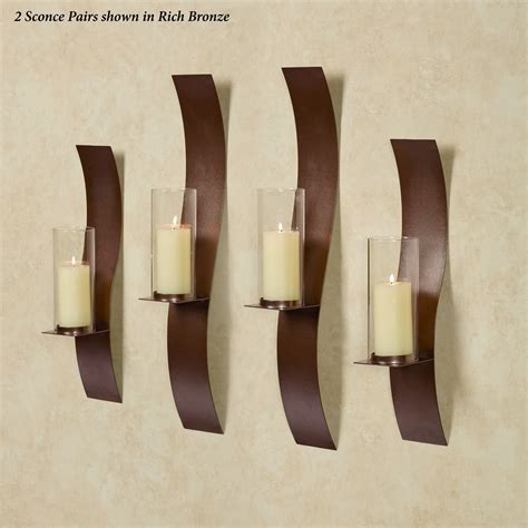 Wall Sconce Set Sinuous Rich Bronze Wall Sconce Set By Jasonw Studios