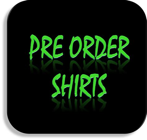 Order Shirts Pre Order Shirts Black Icon