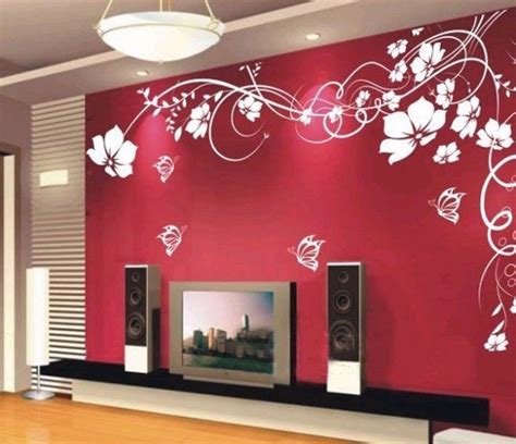 paint stickers for wall 33 wall painting designs to make your living room