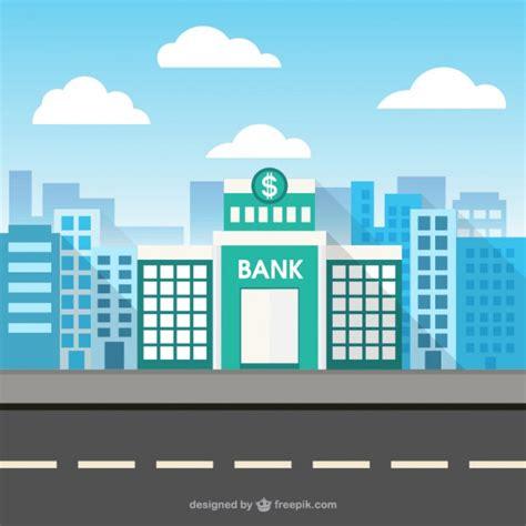 Banco Imagenes Vectores Gratis | edificio del banco en el espacio de la ciudad descargar