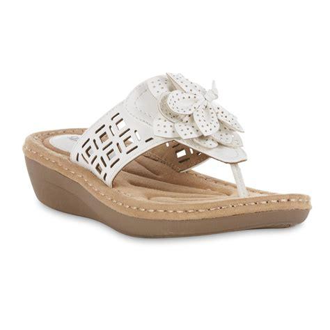 Flower Wide Width Sandal cobbie cuddlers s miracle wide width sandal