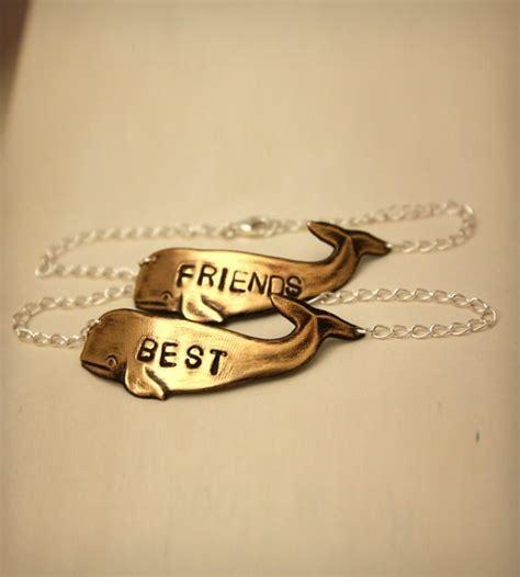 brass whale best friends bracelet set of 2 jewelry