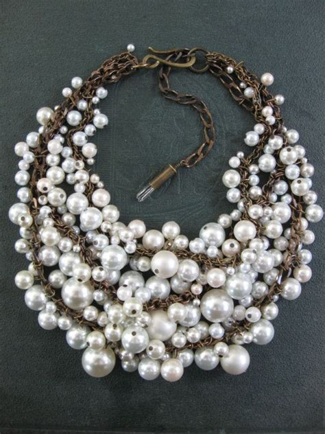 where to buy cheap for jewelry pearl bib necklace mermaid white and