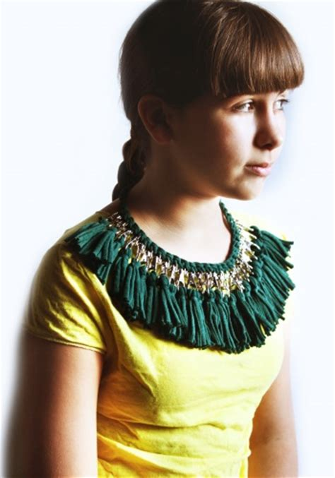 pattern for t shirt necklace t shirt yarn necklace by vera vandenbosch project